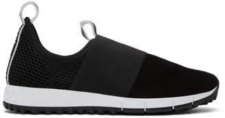 Jimmy Choo Black Suede & Mesh Oakland Sneakers