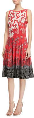 Nic+Zoe Terrace Twirl Sleeveless A-Line Dress, Petite