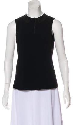 Rag & Bone Leather-Accented Sleeveless Top