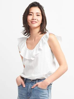 Gap Sleeveless Ruffle V-Neck Top