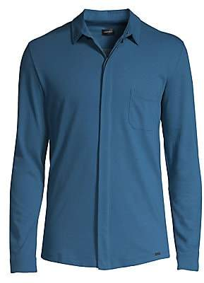 Hanro Men's Luca Long-Sleeve Button-Down Shirt