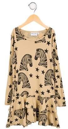 Mini Rodini Girls' Zebra Printed Dress