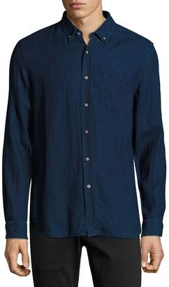 AG Jeans Men's Cotton Button-Down Long-Sleeve Shirt