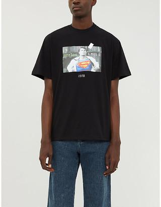 THROWBACK Superman cotton-jersey T-shirt