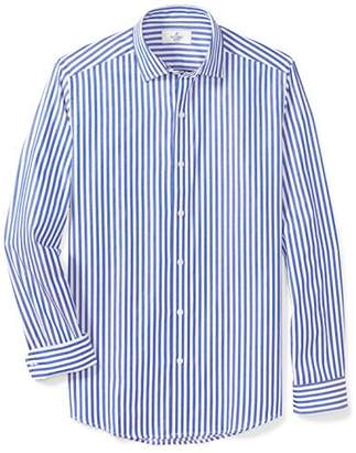 Buttoned Down Men's Fitted Supima Cotton Spread-Collar Dress Casual Shirt