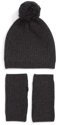 Halogen Cashmere Coordinates Hat & Arm Warmer Set