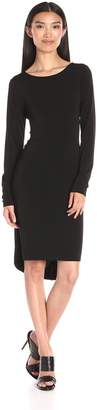 BCBGMAXAZRIA Azria Women's Celia Long Sleeve T Shirt Dress