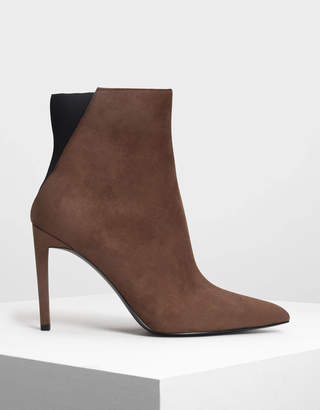 Charles & Keith Pointed Stiletto Calf Boots