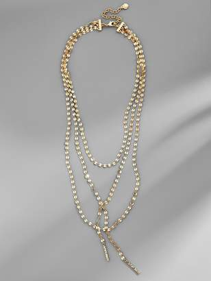 BaubleBar Amber Layered Y-Chain Necklace