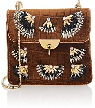Dries Van Noten Women's Velvet & Leather Chain Bag