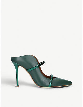 Malone Souliers Maureen 100-173 metallic-accent leather courts