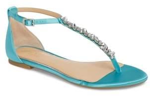 Badgley Mischka Carrol Embellished T-Strap Sandal