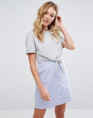 Bershka Jersey Top And Stripe Dress $32 thestylecure.com