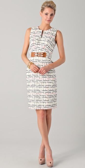 Milly Mariella Tweed Pencil Dress