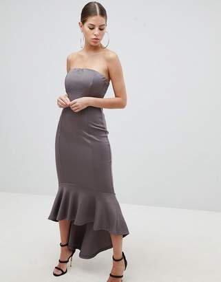 AX Paris Bandeau Midiaxi Dress With Peplum Hem