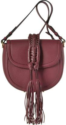 Altuzarra Ghianda Knot Garnet Red Leather Saddle Bag