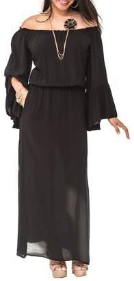 Elan International Ruffle Maxi Dress