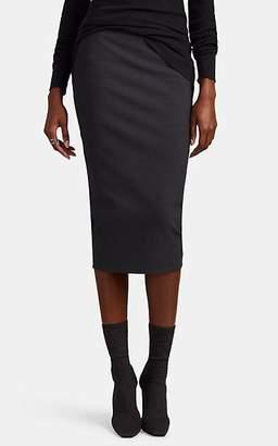 Rick Owens Women's Textured-Crepe Fitted Short Pillar Skirt - Navy