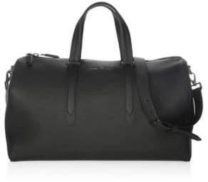 Salvatore Ferragamo Muflone Leather Weekender Bag