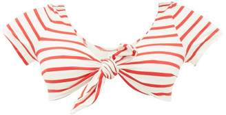 Solid & Striped The Vanessa Striped Bikini Top - Womens - Red Stripe