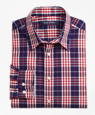Brooks Brothers Boys Non-Iron Plaid Sport Shirt