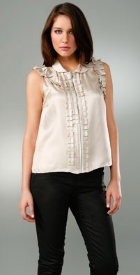 Marc by Marc Jacobs Solid Silk Twill Top