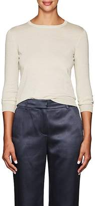 Barneys New York Women's Metallic Silk-Blend Crewneck Sweater