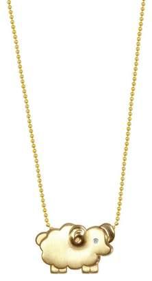 Alex Woo 14K Yellow Gold & Diamond Little Signs Sheep Pendant Necklace - 0.04 ctw
