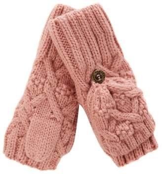 Mantaray Girls' Pink Flip Top Mittens