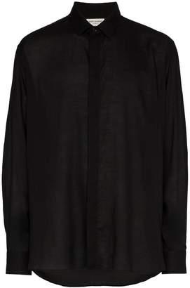 Saint Laurent step hem button down shirt