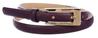 Dolce & Gabbana Embossed Narrow Belt