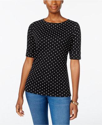 Karen Scott Dot-Print Top, Only at Macy's $29.50 thestylecure.com