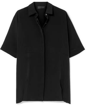 Hatch The Button Down Crepe De Chine Shirt - Black