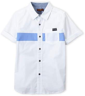 7 For All Mankind Boys 8-20) Cuffed Short Sleeve Shirt