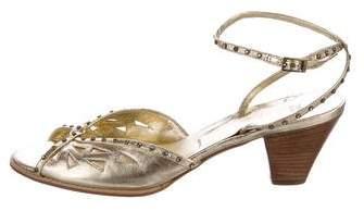 Vera Wang Embellished Leather Sandals