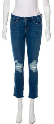 L'Agence Distressed Mid-Rise Jeans