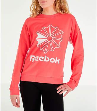 Reebok Women's Classics French Terry Big Logo Crew Sweatshirt