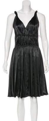 Lanvin 2006 Satin Sleeveless Dress