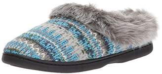 Dearfoams Women's Pattern Knit Clog with Lurex