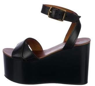 Isabel Marant Leather Flatform Sandals