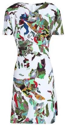 Versace Printed Crepe Mini Dress