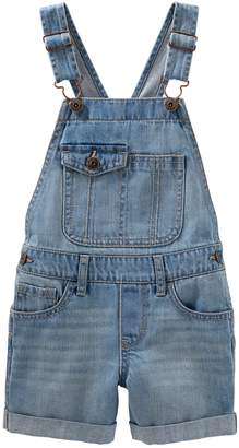 Osh Kosh Oshkosh Bgosh Girls 4-12 Pocket Flap Denim Shortalls