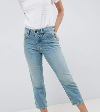 Asos DESIGN Petite Florence authentic straight leg jeans in light green cast