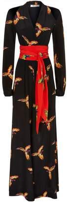 Diane von Furstenberg Silk Bird Jumpsuit