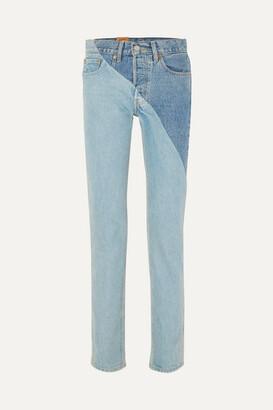 Vetements + Levi's Mid-rise Straight-leg Jeans - Mid denim