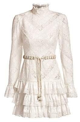 Zimmermann Women's Veneto Perennial Short Lace Dress