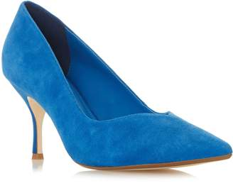 65a04031ace Next Womens Dune London Wide Fit Andersonn Blue Suede Heel Court