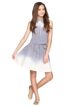 Milly Minis Ombre Stripe Mini Wrap Skirt