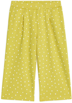 Arket Cropped Jersey Trousers