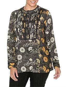 Yarra Trail Woman Long Sleeve Pintuck Detail Shirt